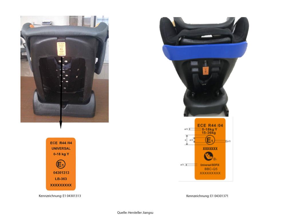 das kba warnt vor der verwendung von kindersitzen des herstellers jiangsu. Black Bedroom Furniture Sets. Home Design Ideas